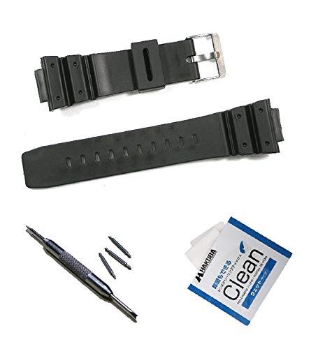 G-Shock 交換バンド Gショック 交換ベルト 【ラグ幅 16mm】 (代替品) 対応機種 DW-5600 G-5600 DW-5700 G-5700 他 【取替え工具付】 ブラック色