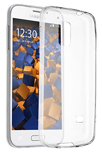 mumbi Cover per Samsung Galaxy S5Mini, Trasparente, Ultra Sottile0,55mm