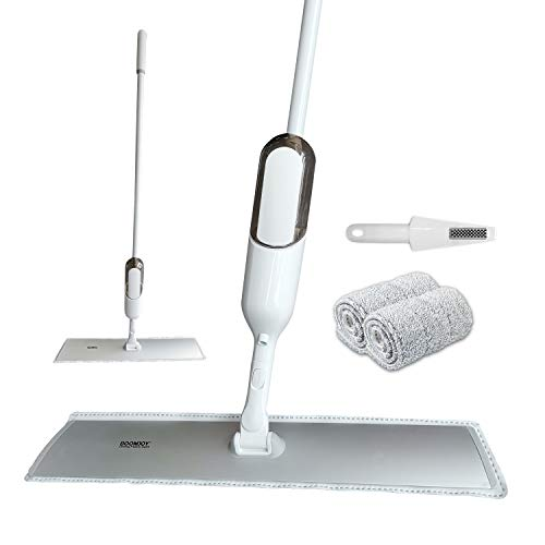 """Spray Mop for Floor Cleaning, BOOMJOY Dust Mop with 24"""" Extra Large Head, Hardwood Floor Mop for Wet and Dry, Home and Office, 2 Mop Pads, 1 Scraper"""