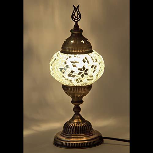 Mosaik-Lampe – handgefertigte türkische 11,4 cm Kugeln Mosaik-Lampe/Wandleuchte, atemberaubender marokkanischer Stil, Mosaik-Laterne, Bronze, Wandlampe für Raumdekoration (Perle)