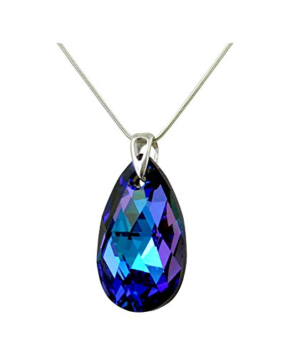Crystals & Stones * Heliotrope * * mandorla * 28 mm Swarovski Elements – Bella collana da donna – con Swarovski Elements