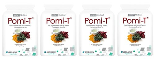 Pomi-T Polyphenol Food Supplement 60 Capsules (Pack of 4 - 240 Capsules)