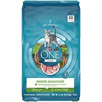 Purina ONE Indoor Advantage Hairball Control, Natural Adult Dry Cat Food & Wet Cat Food
