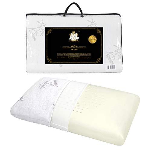 DUCK & GOOSE Orthopädisches Memory Foam Kopfkissen Nackenstützkissen viscoelastisches Kissen mit waschbarem Bambus Bezug 70X40X13cm