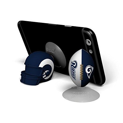 NFL Sports Suckerz Los Angeles Rams Football & Helmet Phone Stand