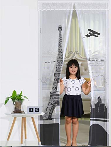 Fengz Magnetisch gordijn zonder boren, duurzaam klittenband tegen insecten, hoogwaardig vliegengaas voor toegangsdeuren, balkon, woonkamer, slaapkamer 100x210CM C.