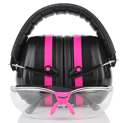 TRADESMART Pink Shooting Earmuffs amp Clear Safety Glasses  2 Piece Gun Range Kit