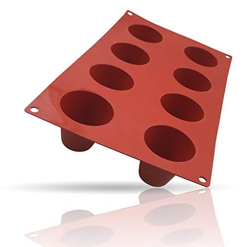 Kerafactum Flexibele bakmat mat vorm voor bakken van siliconen bakvorm Dariol Dariolvorm siliconen vorm motief 8 vormen voor cake en keuken desserts en zoetgerechten -60 °C tot + 260 °C