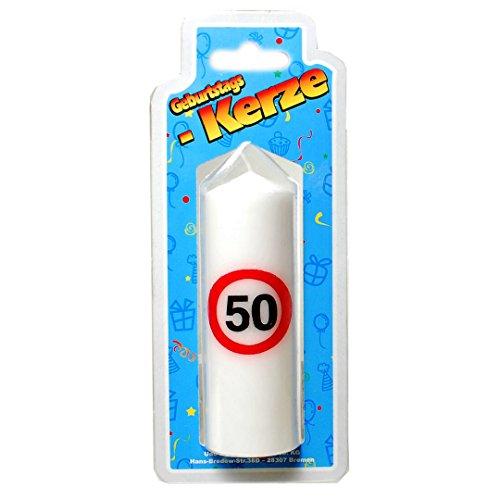Geburtstags Kerze zum 50. Geburtstag 135g (Grundpreis 100g: 5,55 EUR)