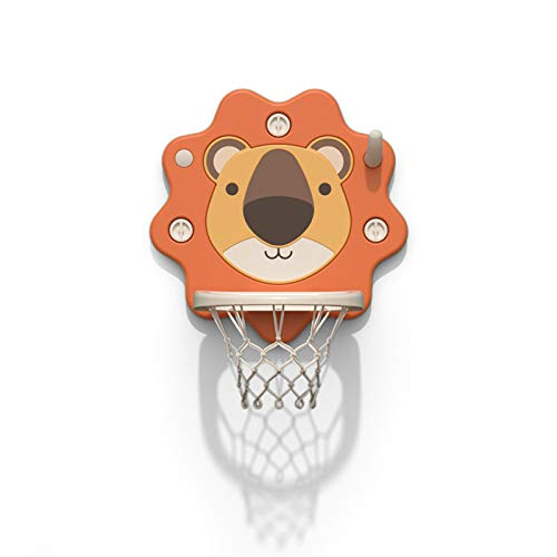 ZXCVB El aro de Baloncesto para niños, Colgando la Ventosa Interior se Puede elevar y Bajar para bebés y niños pequeños sin perforación Mini Marco de Tiro Lion