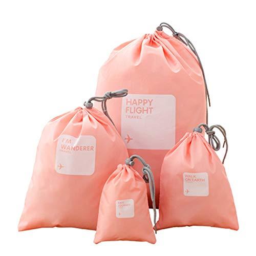 Bolsas de Almacenamiento de ropa Sistema de 4pcs impermeables almacenaje de la ropa bolsas de viaje Accesorios de viaje organizadores de ropa Artículos de higiene cosmética de almacenamiento de cable