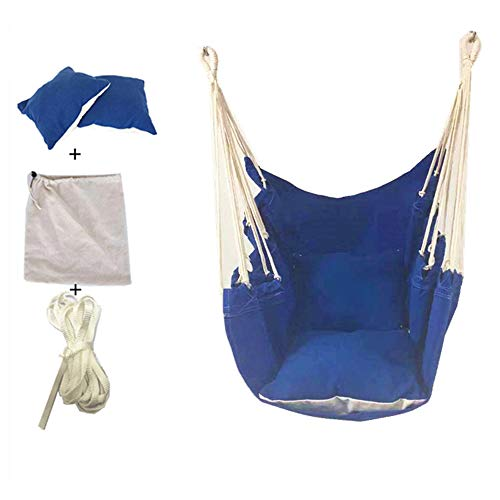 WYLDDP Gartenhängemattenstuhl, Hängesessel, Mit Gepolsterten Sitzen (Mehrfarbig Optional) Für Innen- Und Außenhöfe, Balkone, Camping,B