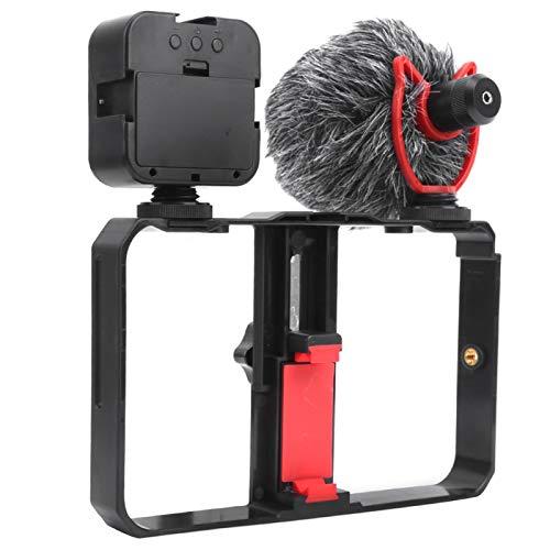 DAUERHAFT Fotografía móvil Fotografía Luz de Relleno Juego de estabilizador de grabación de Video, para Maquillaje en Vivo
