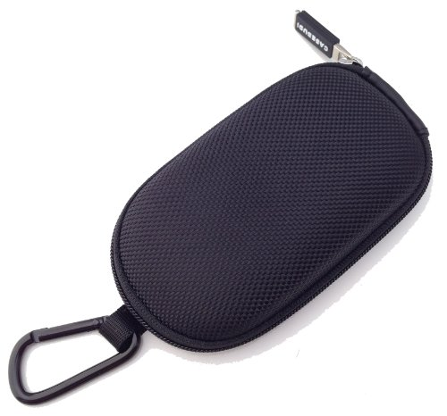CASEBUDi Tough Travel Carrying Case for Apple Magic Mouse 1 and 2 | Hard Shell Ballistic Nylon (Black)