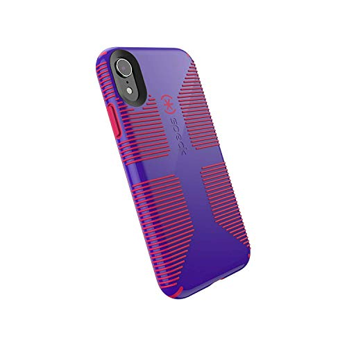 Speck Products CandyShell Grip iPhone XR Case, Ultraviolet Purple/Ruby Red