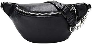 onemoret Fanny Waist Pack Frauen Schulter Brust Bauch Gürtel Handtaschen Weiblich Crossbody Handtasche Fanny Pack Schwarz