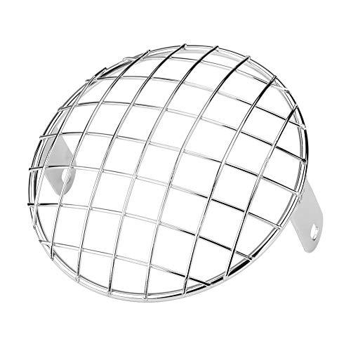 """EBTOOLS Protector de la lámpara de los faros delanteros de la motocicleta, motocicleta 6.5""""Faro de malla Parrilla de montaje lateral Máscara de cubierta universal para Cafe Racer"""
