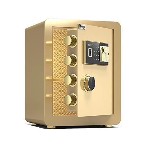 Casseforti Piccole Casseforte per Uso Domestico Alte 40 Cm,Armadio di Sicurezza Ignifugo E Antifurto,6 Metodi di Sblocco del Blocco Elettronico della Password con Impronta Digitale,Tutto in Acciaio