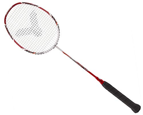 VICTOR Arrow Power 5800 G5 Strung Badminton Racket String Tension Upto 35lbs (Red/White) (3U)
