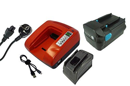 PowerSmart® 4500mAh Batería + Cargador para Hilti TE 6-A36, WSC 7.25-A36, WSC 7.25-A, WSR 36-A, TE 7-A, WSC 70-A36, B36/3.9