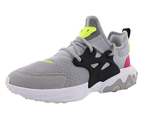 Nike React Presto (GS), Scarpe da Atletica Leggera Uomo, Multicolore (Wolf Grey/Black/Rush Pink/Volt 4), 38.5 EU