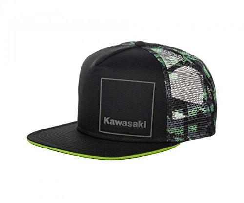 Kawasaki Camo Cap Snapback Mütze schwarz