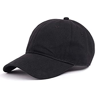Zylioo Oversize XXL 100% Cotton Baseball Cap,Large Hat for Big Heads 23.5-25.5  Structured Buckle Blank Dad Cap