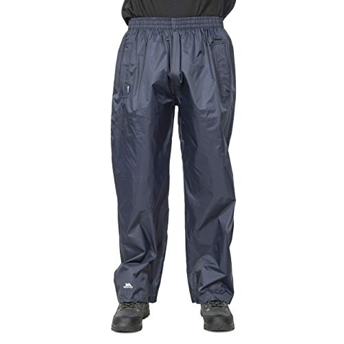 Trespass Qikpac Pant, Dark Navy, XXL, Kompakt Zusammenrollbare Wasserdichte Regenhose mit 3 Taschenöffnungen für Damen und Herren / Unisex, XX-Large / 2XL / 2X-Large, Blau