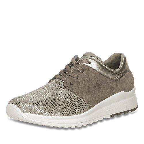 Legero dames sneaker Peltro/zilver leer maat 37 tot 42
