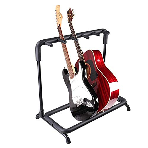Multi Guitar Stand, Folding 5 Holder Guitar Display Rack Hangers|Portable Floor Guitar Rack with Padded Foam|Easy Installation|Space Saving, Guitar Organizer for Stage Concert Studio Home (5 Holder)…