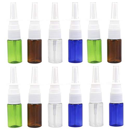 EXCEART 12 Pcs Flacon Pulvérisateur Nasal Rechargeable Vide Nasal Applicateur Distributeur Pulvérisateur Conteneur Voyage Rhinite 10 ML