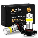 Alla Lighting 2800lm PSX24W 2504 LED Lights Bulbs 3000K Amber Yellow Xtreme Super Bright COB-72 12V Car Fog Light Replacement 122766