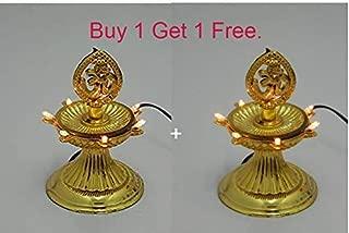 Bubby 1 Layer New Electric Gold LED Bulb Lights Diya/Deep/Deepak for Pooja/Puja/Mandir Diwali Festival Decoration