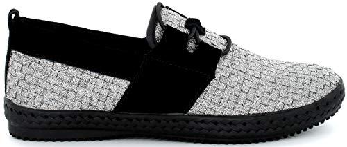 B M Bernie Mev New York Lazers Slip-On Zapatillas Deportivas para Mujer, Gris/Negro (Pewter), 39 EU