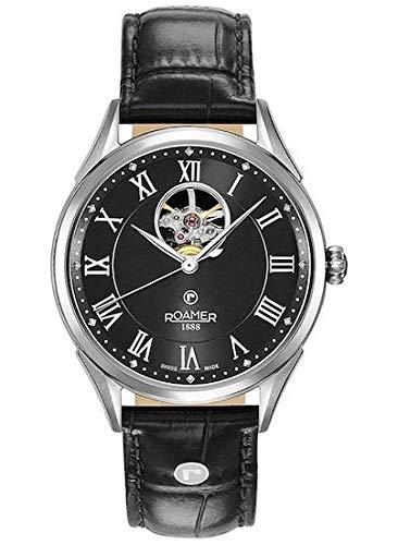 Roamer Herren Analog Schweizer Automatikwerk Uhr mit Leder Armband 550661-41-52-05