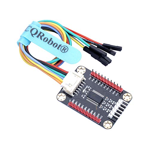 CQRobot Ocean: MCP23017 IO Expansion Board Compatible with Raspberry Pi/Micro:bit/Arduino/STM32 Motherboard. I2C Interface, Expands 16 I/O Pins, Up to 8 Expansion Boards Can be Used Simultaneously.
