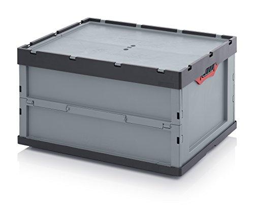 Profi-Faltbox 80 x 60 x 44 mit Deckel inkl. gratis Zollstock * große Auer Klappbox *