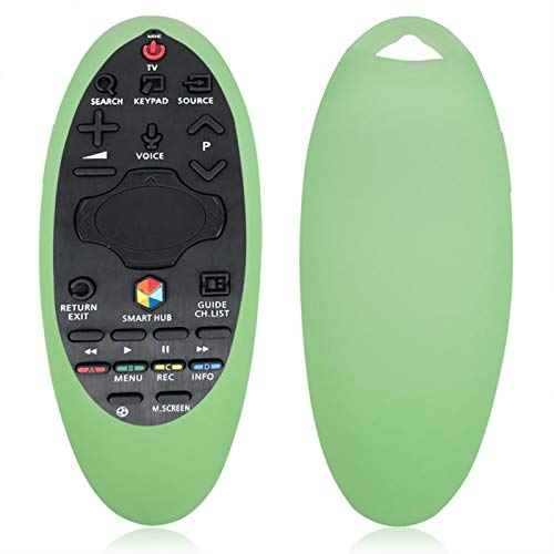 minifinker Mando a Distancia Original para Samsung TV Funda para Samsung Funda de Silicona para Mando a Distancia, para Samsung TV, para el Sensor de Mando a Distancia(Fluorescent Green)