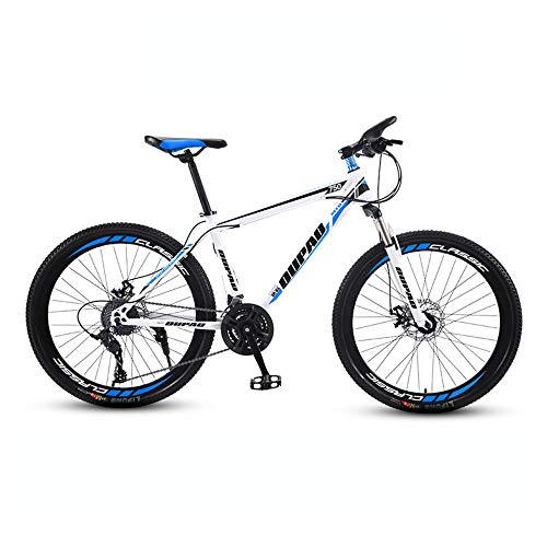 Bike, Mountain Bike with 27 Speed | All-Terrain Bicycle, with Adjustable Seat and high-carboon Steel Frame, for Adults and Teenagers, Easy to Install/B / 159x93cm
