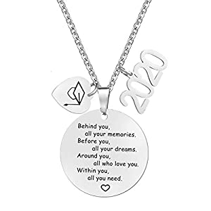 MOORAY 2020 Gaduation Gifts for Her High School Graduation Necklace Congrats Grad Jewelry for Graduates