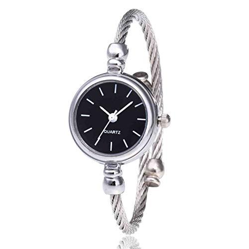 OLUYNG Armbanduhr Stilvolle Quarzuhr Schulmädchen Stahlband Armband heißer Drahtgürtel Uhr weiße Muschel schwarzes Gesicht