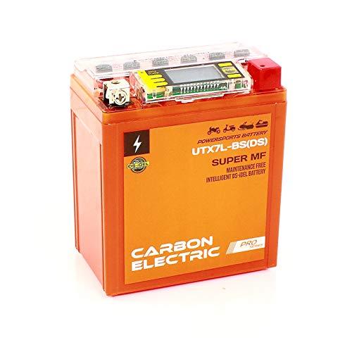 Carbon Electric UTX7L-BS motoraccu YTX7L-BS 12V 7Ah met stroomtester motorfiets scooter accu