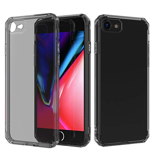 Wuqiang Funda telefónica a Prueba de choques a Prueba de choques de Aire de Aire con conversión de Sonido Diseño TPU Funda for iPhone 8 & 7 (Negro) (Color : Black)