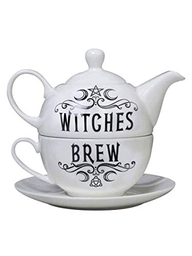 Alchemy Witches Brew Hex Tea for One Becherset Weiß 17x14.5cm