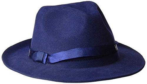 Rubies- Sombrero gánster, Color azul, Talla única (Rubie's Spain S9010)