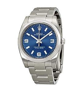 Rolex Airking Blue Arabic Dial Domed Bezel Mens Watch 114200BLASO image