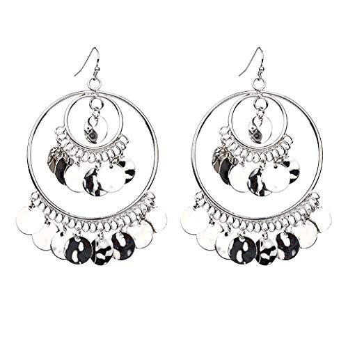 Check Out This KANGMOON Fashion Bohemian Chandelier Coin Dangle Earrings - Gypsy Lightweight Filigre...