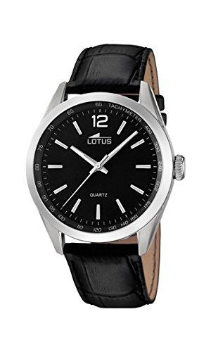 Lotus Herren Analog Quarz Uhr mit Leder Armband 18149/2
