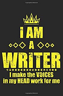 I Am A Writer I Make The Voices In My Head Work For Me: Writer Author Book Nerd Dot Grid Notebook 6x9 Inches - 120 dotted pages for notes, drawings, formulas | Organizer writing book planner diary