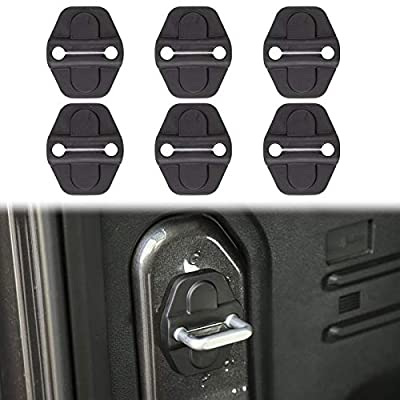 Voodonala for JL Door Lock Cover Buckle Decor Trim for 2018-2021 Jeep Wrangler JL JLU, for Jeep Gladiator JT 2020 2021, ABS Exterior Accessories, 6PCS
